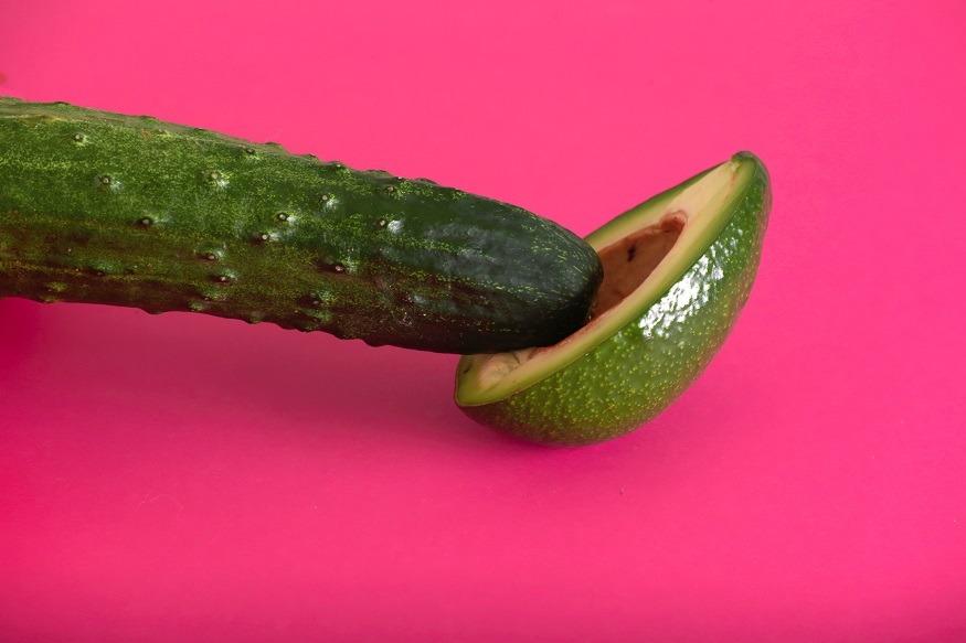 erotisch fruit seks onder de douche